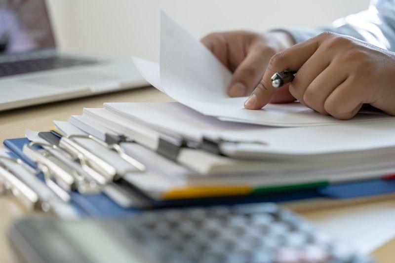 Osoba czytająca pliki dokumentów