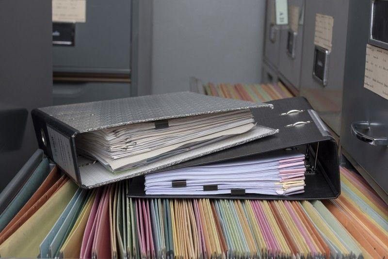 Foldery dokumentów do zniszczenia
