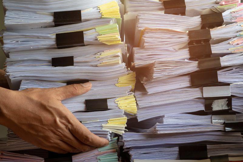 Bardzo duża ilość przenoszonych dokumentów do zniszczenia