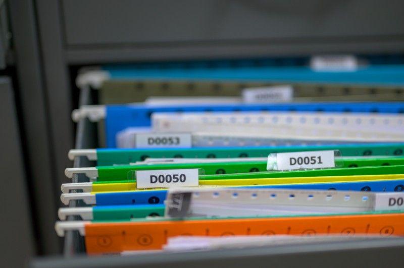Kolorowe pliki z dokumentami